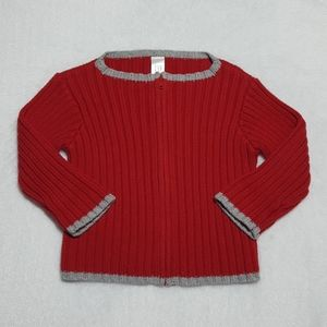 Baby GAP infant boys' ribbed knit full-zip sweater